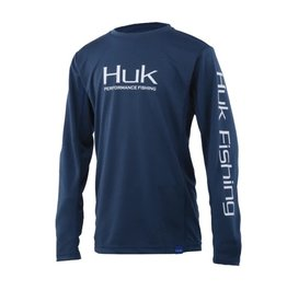 Huk Huk Icon X Long Sleeve Sargasso Sea