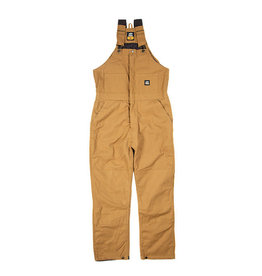 Berne Berne Men's Deluxe Insulated Bib Overall Brown Duck MEDIUM TALL