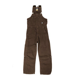 Berne Men's Original Washed Insulated Bib Overall BARK MEDIUM