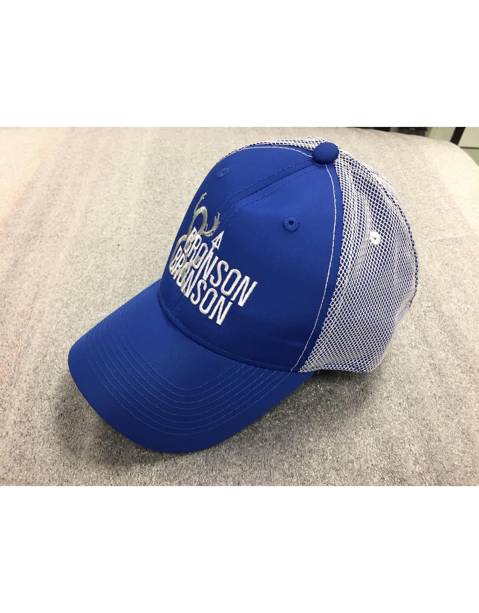 AJM International Unisex Adult Bronson & Bronson Hat O/S Blue/White