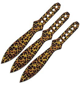 China Made Throwing Knife Set Cheetah