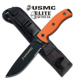 Elite Tactical USMC FIXED BLADE KNIFE M-1021OR