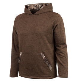 Huntworth Men's Knit Jersey Hoodie Brown