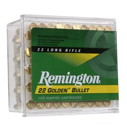 Remington Remington Golden Bullet 22LR 40gr High Velocity Plated Round Nose 100ct