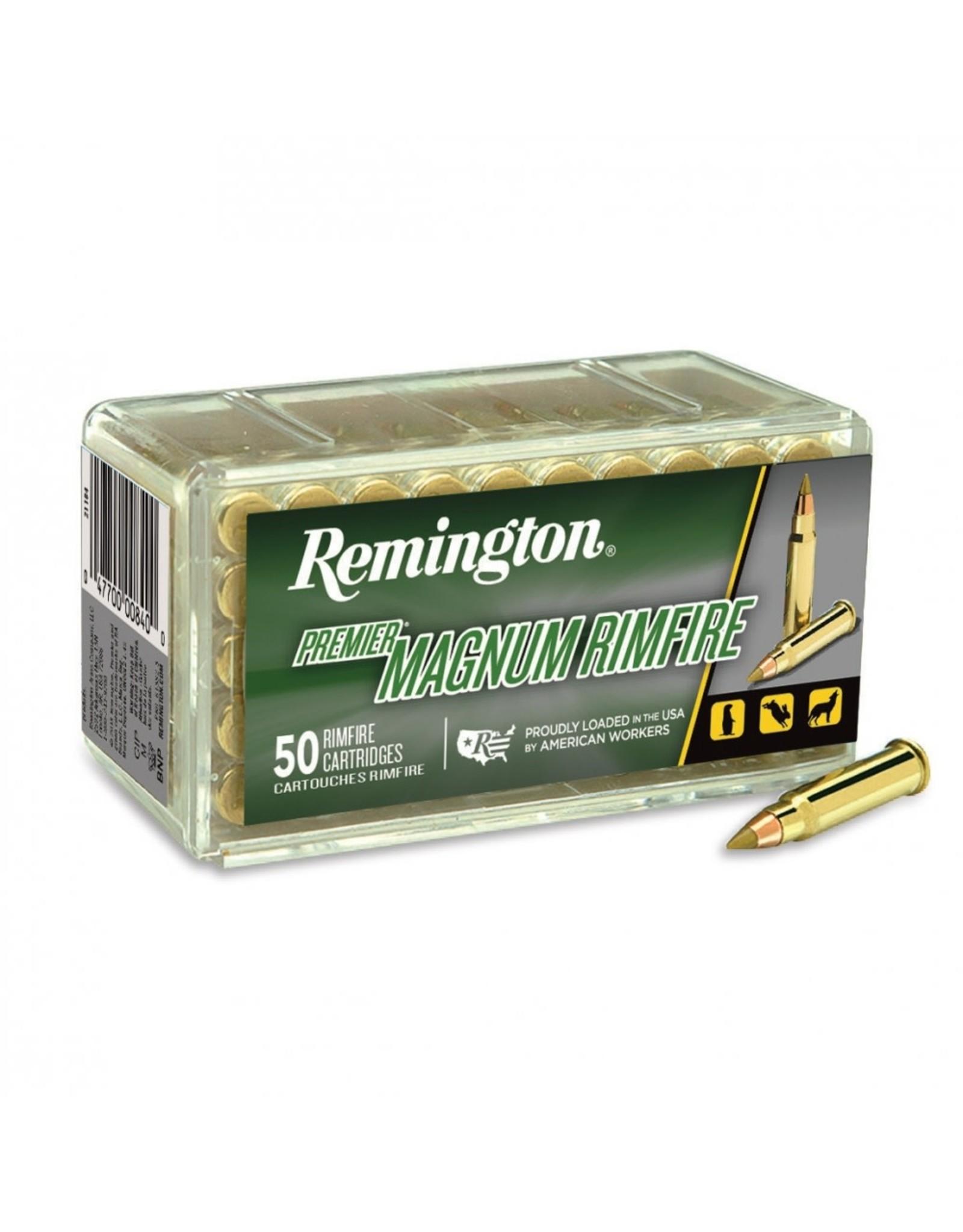 Remington Remington 17HMR 17gr Premier Magnum Rimfire 2550fps