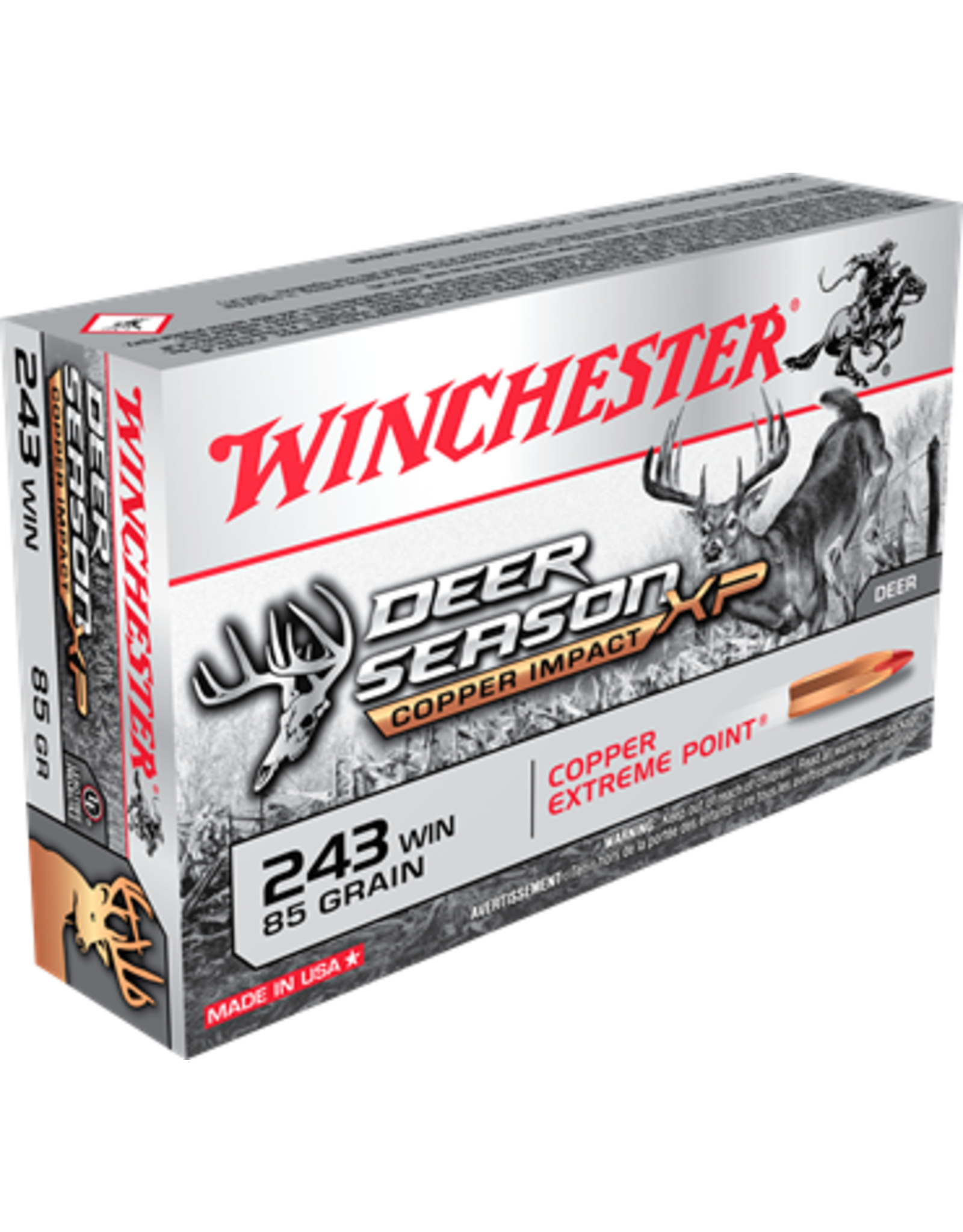 Winchester 243 WIN 85GR DS/XP Copper Impact