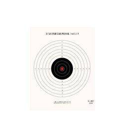 10 Meter (33') Single Bull Red Center NRA Air Pistol Target 100CT
