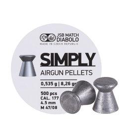 JSB JSB Match Diabolo Simply Airgun Pellets- .177cal, 8.26gr 500pcs