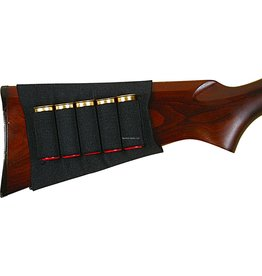 Allen Allen 205 Basic Buttstock Shotgun Shell Holder, 5 Loops, Black