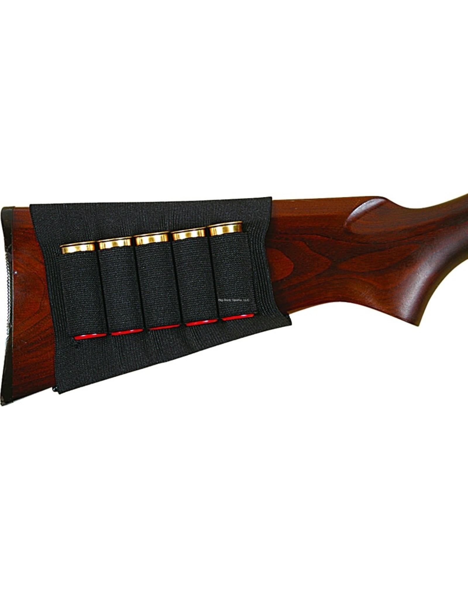 Allen Allen 205 Basic Buttstock Shotgun Shell Holder, 5 Loops, Black