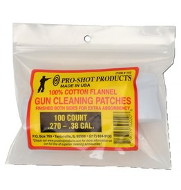 Pro Shot Products PRO-SHOT PATCH .270-.38CAL 100CT