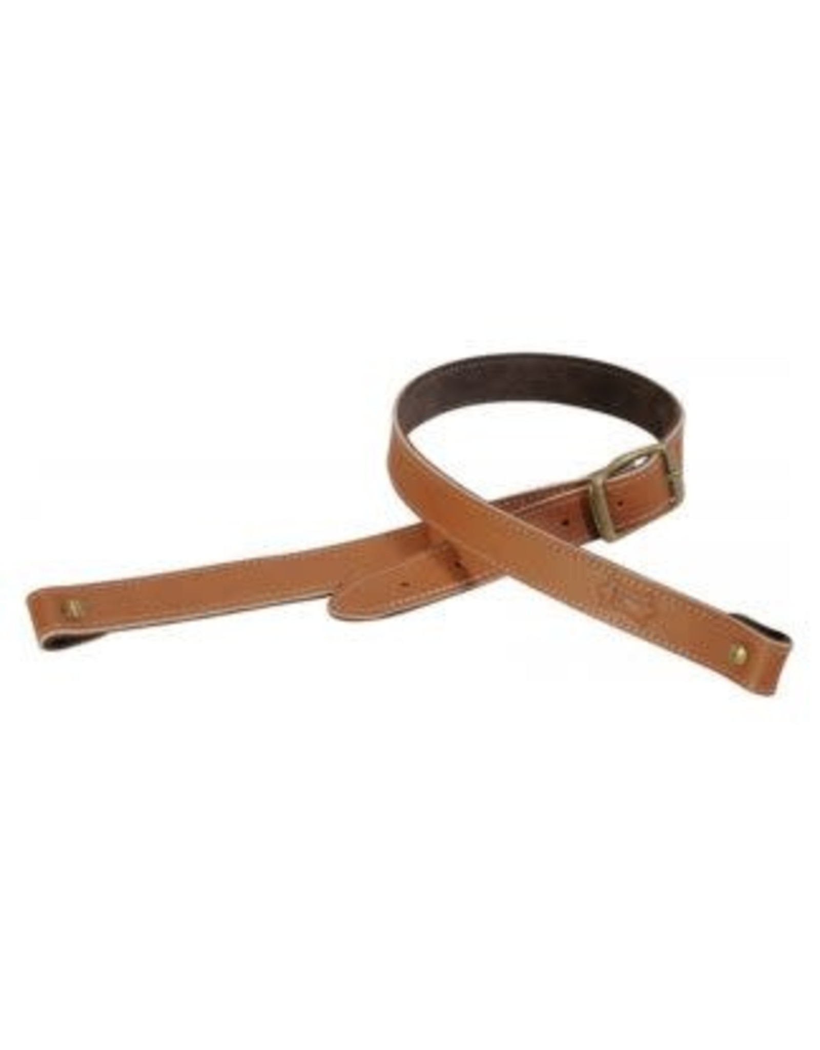 "1"" veg-tan leather rifle sling with brown suede"