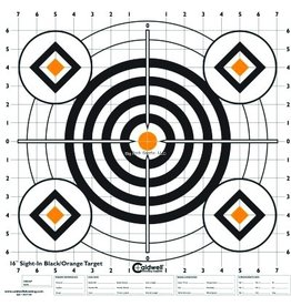 "Caldwell Caldwell 195781 Sight In Target 16"" Black and Orange 10pk"