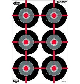 """Birchwood Casey Birchwood Casey 35705 Dirty Bird 12"""" x 18"""" Multiple Bull's- Eye Target- 8 Targets"""