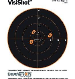 "Champion Champion 45802 Visishot 100 yd Sight-In Target, 8"" Bullseye, 8.5""x11"", 10Pk"