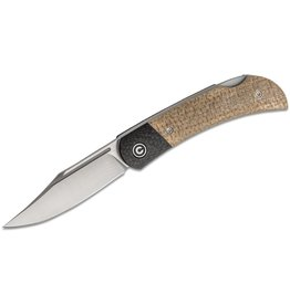 Civivi Civivi Rustic Gent Tan Micarta Handle with Carbon Fiber Bolster