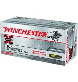 Winchester Winchester X22LRH Super-X Rimfire Ammo 22 LR, LHP, 37 Grains, 1280 fps, 50 Rounds