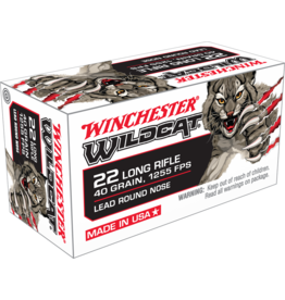 Winchester Winchester CQWW22LR Wildcat Rimfire Ammo 22 LR, LRN, 40 Grains, 1255 fps, 50 Rounds