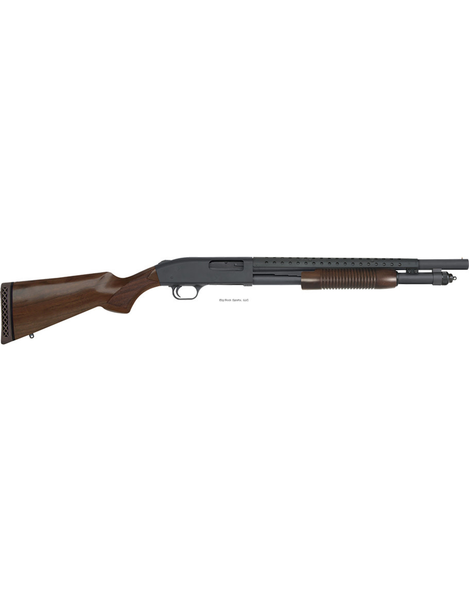 "Mossberg Mossberg 52151 590 Pump Shotgun, 12 GA, 18.5""Bbl, Retrograde, Walnut, Heatshield, Bead sight, 6+1 Rnd"