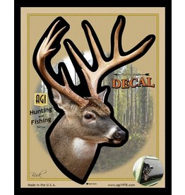 Salty Bones Buck Side-Angle  Deer Truck/Car Window Decal