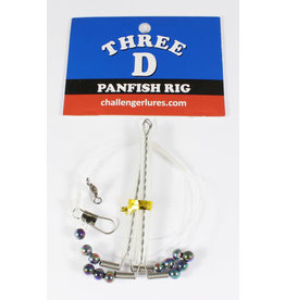 Challenger Three D panfish rig, 2 arm florocarbon with Blades