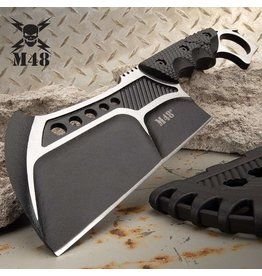 M48 Conflict Cleaver With Vortec Sheath - 2Cr13 Cast Stainless Steel Blade, Injection Molded Nylon Handle, Open Ring Pommel - Length 11 1/4""