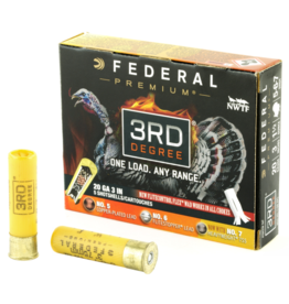 "Federal FEDERAL PREMIUM THIRD DEGREE 20 GA. 3"" 1.7/16 OZ. #5,6,7 TURKEY LOAD"