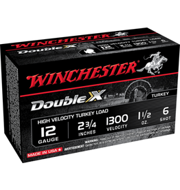 "Winchester WINCHESTER DOUBLE X 12 GAUGE 2.75"" #6 1.5 OZ. TURKEY LOAD"