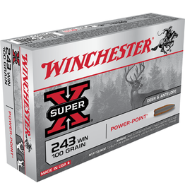 Winchester WINCHESTER SUPER-X AMMO 243 WIN 100GR POWERPOINT 20/BX