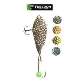 """Freedom Lures Freedom Hammered Minnow 1.5"""" Silver 1/8 oz"""