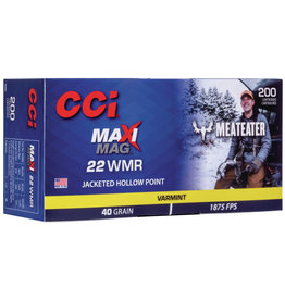 "CCI CCI 22 WMR Maxi Mag Jacketed HP ""Meat Eater"" 200ct"