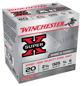 "Winchester Winchester Super X 20GA 2.75"" 3/4oz #6 Shot"