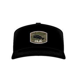 Huk Huk Camo Bass Trucker - Black