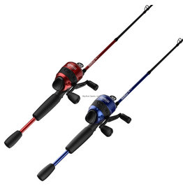 Zebco Zebco Customz RED OR BLUE 6' 2pc Med Spincast Combo (Rod & Reel) 10lb