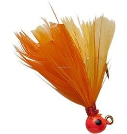 Double OO Double OO Flu-Flu Jig, 1/16 oz, Sz 6 Hook, Orange/Orange & Yellow