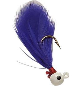 Double OO Double OO 63106 Flu-Flu Jig, 1/16 oz, Sz 6 Hook, White/Purple
