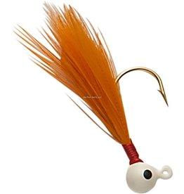 Double OO Double OO Flu-Flu Jig, 1/16 oz, Sz 6 Hook, White/Orange