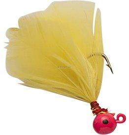 Double OO Double OO Flu-Flu Jig, 1/16 oz, Sz 6 Hook, Pink/Yellow