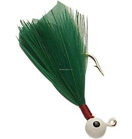 Double OO Double OO Flu-Flu Jig, 1/16 oz, Sz 6 Hook, White/Green