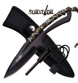 "Survivor SURVIVOR HK-767CA FIXED BLADE KNIFE 8"" OVERALL"