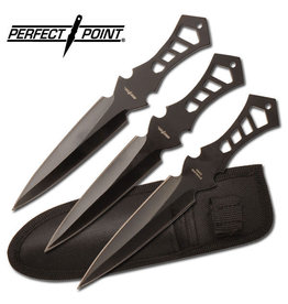 """Perfect Point PERFECT POINT TK-017-3B THROWING KNIFE SET 7.5"""" OVERALL"""