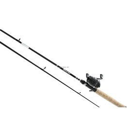 Daiwa Daiwa DTE120-B/F662MH D-Turbo Pre-Mounted Spincast Combo, With Line, 1BB, 6'6
