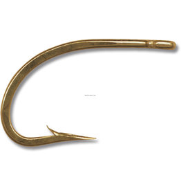Mustad Mustad 9174-BR-2/0-8 Classic O'Shaughnessy Live Bait Hook, Size 2/0, Forged, 3X Short Shank, Ringed Eye, Bronze, 8 per Pack (425850)