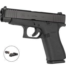 "GLOCK Glock PA4850301AB G48 Semi Auto Pistol 9MM 4.17"" BBL Black Compact Slide Amglo bold Sights, 10rd 2 Mags"