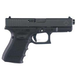 "GLOCK Glock UG195X206N G19 Gen4 Semi-Auto Pistol, 9MM, 4.17"" Bbl , 10+1 Rnd, 3 Mags, Fixed Sights, Maple Leaf Engraved Slide"