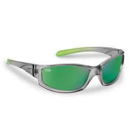 Flying Fisherman Flying Fisherman 7895GAG Buoy Jr Angler Polarized Sunglasses, Gray-Lime Frame, Green Mirror Lens