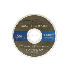 Cortland Cortland 607699 Fairplay Nylon Tippet 27yd 1X-10lb Clear