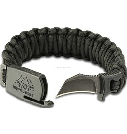 Outdoor Edge Outdoor Edge PCK-90C Para-Claw Knife Bracelet, Black, Large (7 and up) Blister