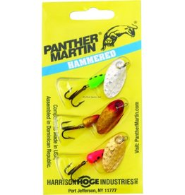 panther martin Panther Martin PMHM3 Hammered Regular Spinner, #4, 1/8 oz, Assorted, 3/Pack