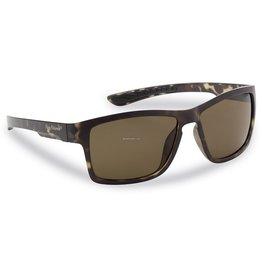 Flying Fisherman Flying Fisherman 7863TA Tiki Polarized Sunglasses, Matte Tortoise Frames, Amber Lens